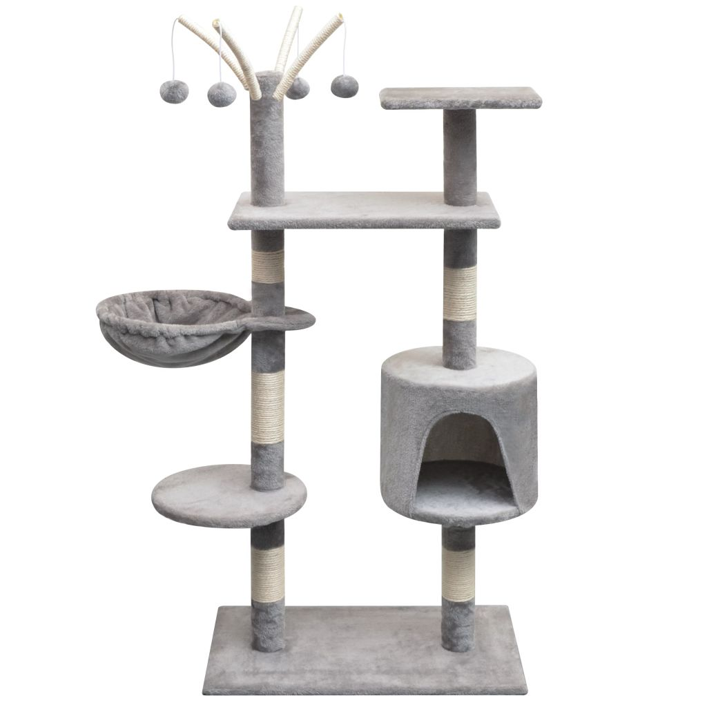 Cat Tree with Sisal Scratching Posts 125 cm Grey Kings Warehouse