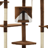 Cat Tree with Sisal Scratching Posts 203 cm Brown and White Kings Warehouse