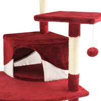 Cat Tree with Sisal Scratching Posts 203 cm Red and White Kings Warehouse