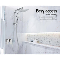 Cefito Bathroom Taps Faucet Rain Shower Head Set Hot And Cold Diverter DIY Chrome Bathroom Accessories Kings Warehouse