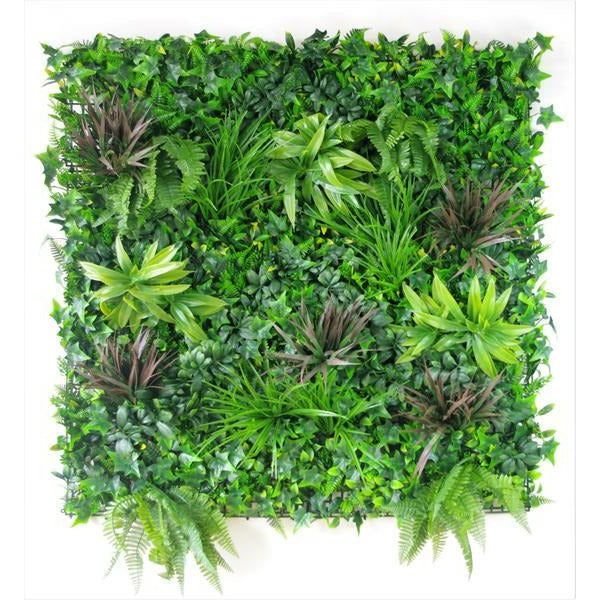 Coastal Greenery Vertical Garden / Green Wall UV Resistant 100cm x 100cm Kings Warehouse