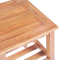 Coffee Table 40x40x50 cm Square Solid Teak Kings Warehouse