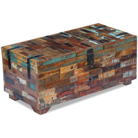 Coffee Table Box Chest Solid Reclaimed Wood 80x40x35 cm Kings Warehouse