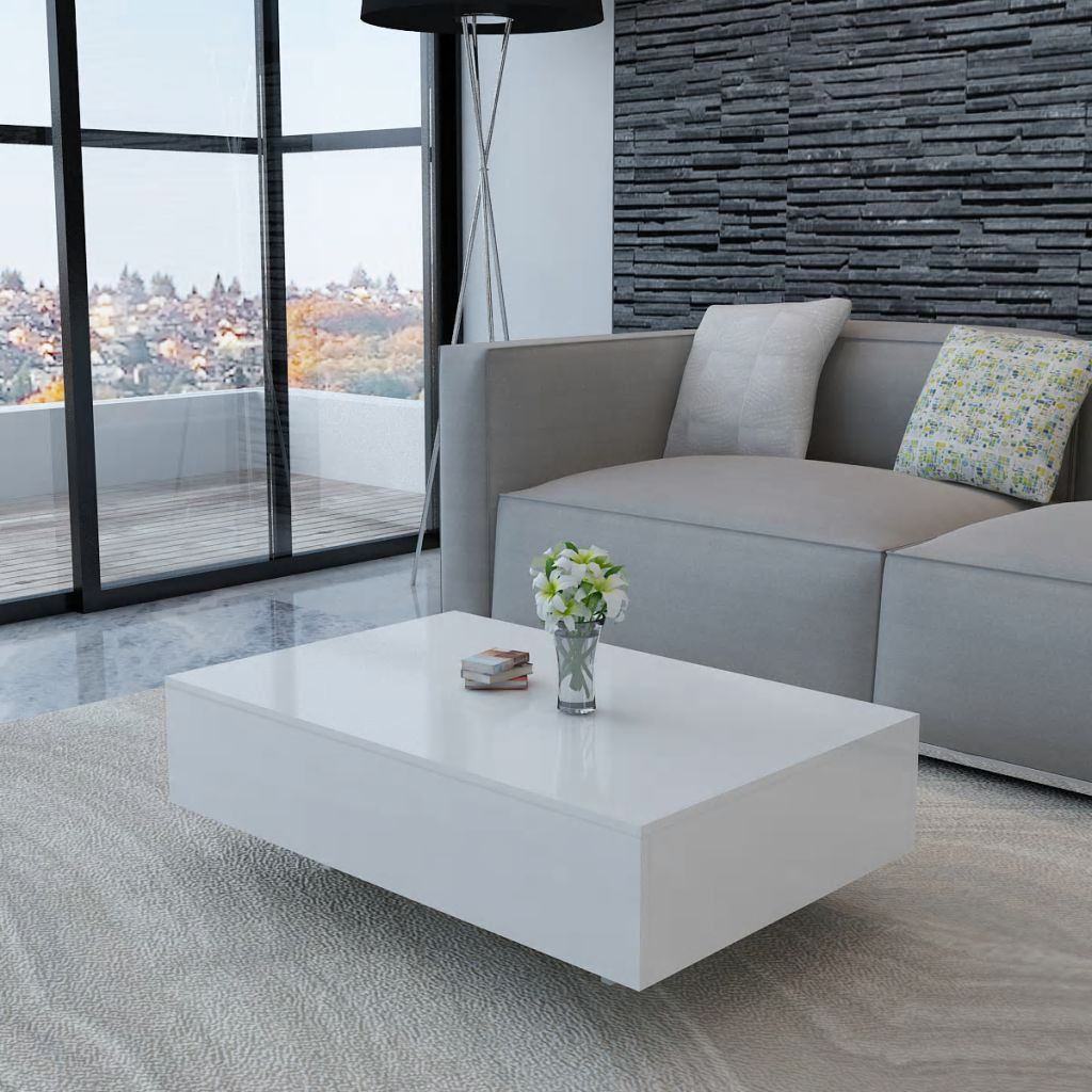 Coffee Table High Gloss White Kings Warehouse