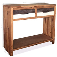 Console Table Solid Acacia Wood 86x30x75 cm Kings Warehouse