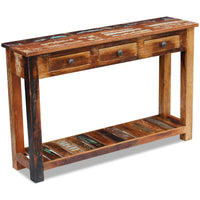 Console Table Solid Reclaimed Wood 120x30x76 cm Kings Warehouse