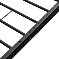 Coombe Bed Frame Black Metal Queen Size Kings Warehouse