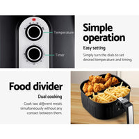 Devanti 7L Oil Free Air Fryer - Black Kings Warehouse