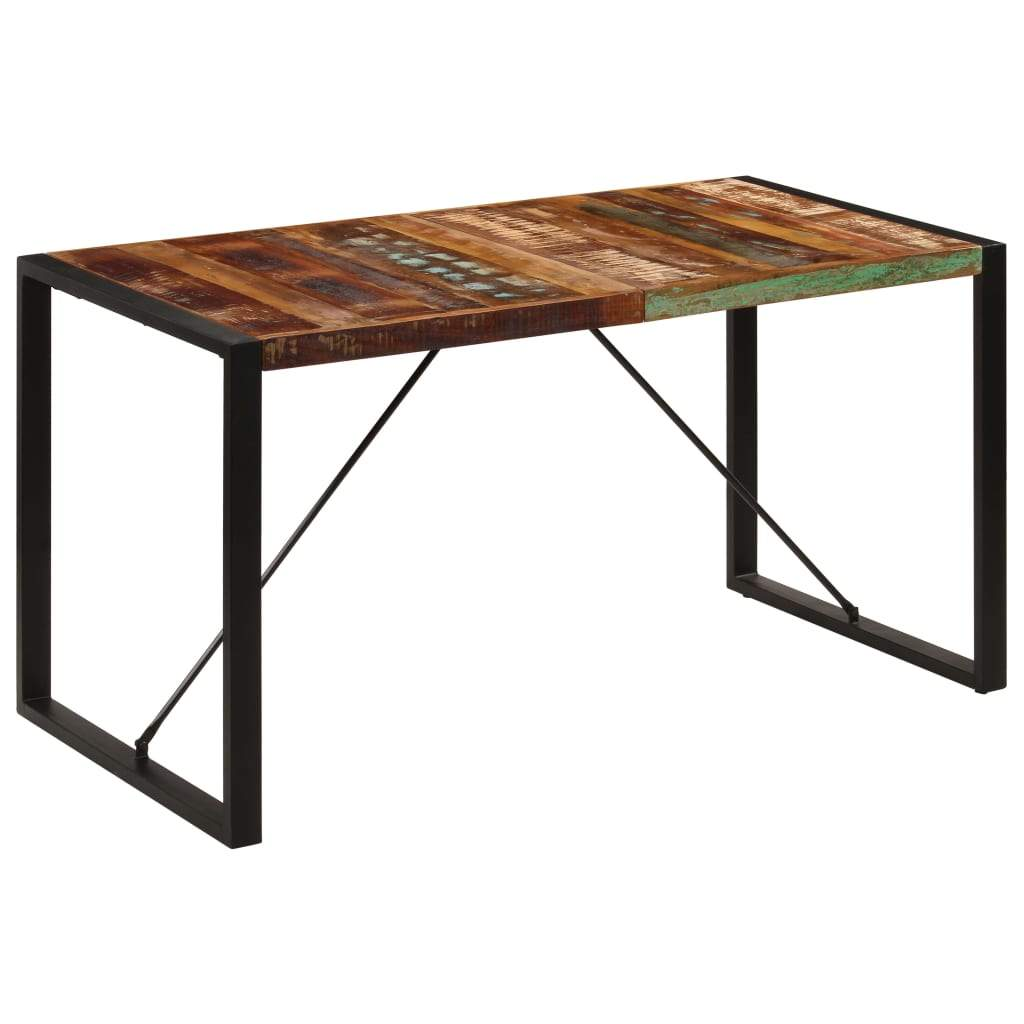 Dining Table 140x70x75 cm Solid Reclaimed Wood Kings Warehouse