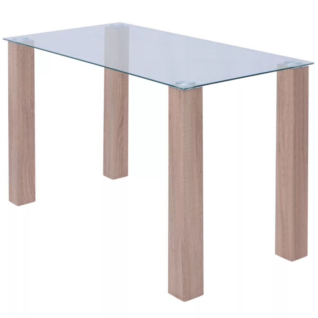 Dining Table Glass 120x60x75 cm Kings Warehouse