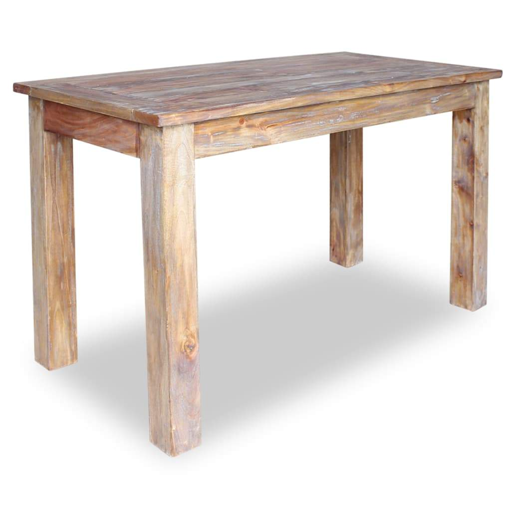 Dining Table Solid Reclaimed Wood 120x60x77 cm Kings Warehouse