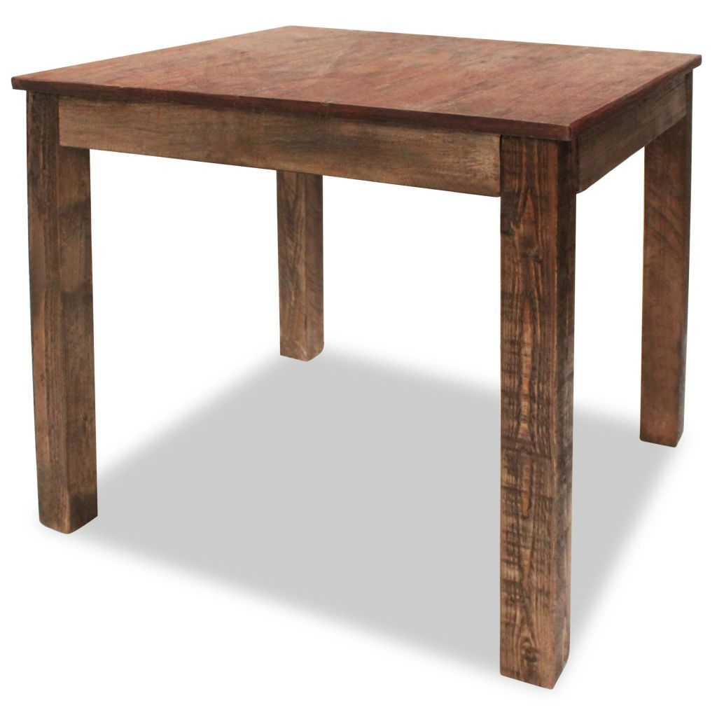 Dining Table Solid Reclaimed Wood 82x80x76 cm Kings Warehouse