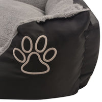 Dog Bed with Padded Cushion Size XL Black Kings Warehouse