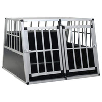 Dog Cage with Double Door 94x88x69 cm Kings Warehouse