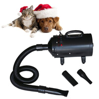 Dog Hair Dryer with 3 Nozzles Black 2400 W Kings Warehouse