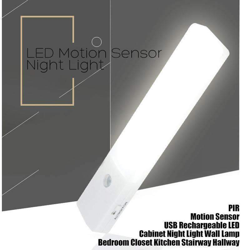EL608 Rechargeable Infrared Motion Sensor Wall LED Night Light Torch (Cool White) Kings Warehouse