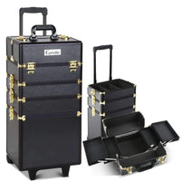 Embellir 7 in 1 Portable Cosmetic Beauty Makeup Trolley - Black & Gold Kings Warehouse
