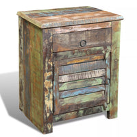 End Table with 1 Drawer 1 Door Reclaimed Wood FALSE Kings Warehouse