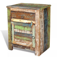 End Table with 1 Drawer 1 Door Reclaimed Wood FALSE Kings Warehouse Default Title
