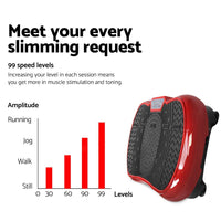 Everfit Vibration Machine Plate Platform Body Shaper Home Gym Fitness Maroon Kings Warehouse