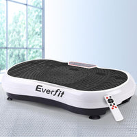 Everfit Vibration Machine Plate Platform Body Shaper Home Gym Fitness White Kings Warehouse