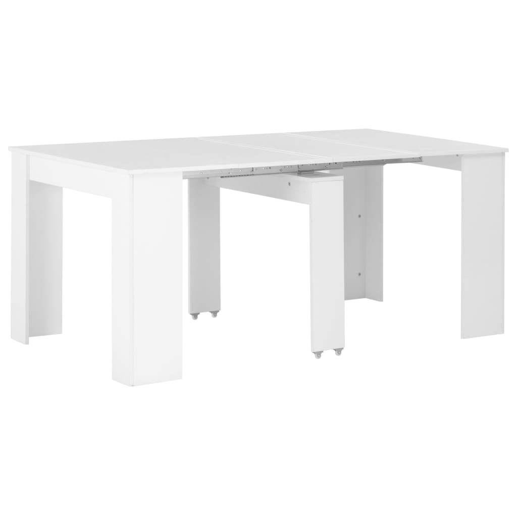 Extendable Dining Table High Gloss White 175x90x75 cm Kings Warehouse