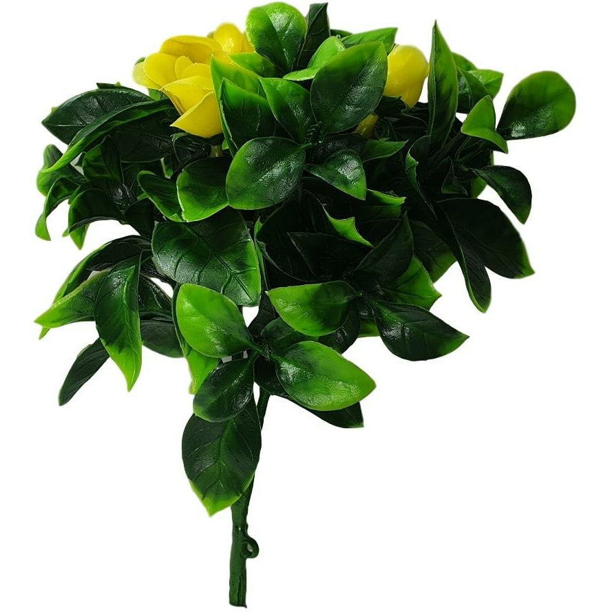 Flowering Yellow Rose Stem UV Resistant 30cm Kings Warehouse