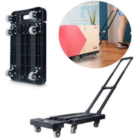 Foldable Hand Flatbed Trolley Cart 6 x 360 Degree Rotating Wheels with Maximum Load 200Kg New Arrivals Kings Warehouse