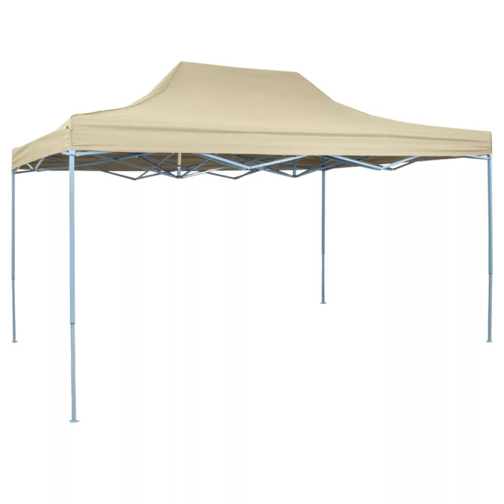 Foldable Tent Pop-Up 3x4.5 m Cream White Kings Warehouse