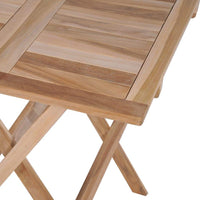 Folding Bistro Table 60x60x65 cm Solid Teak Wood Kings Warehouse