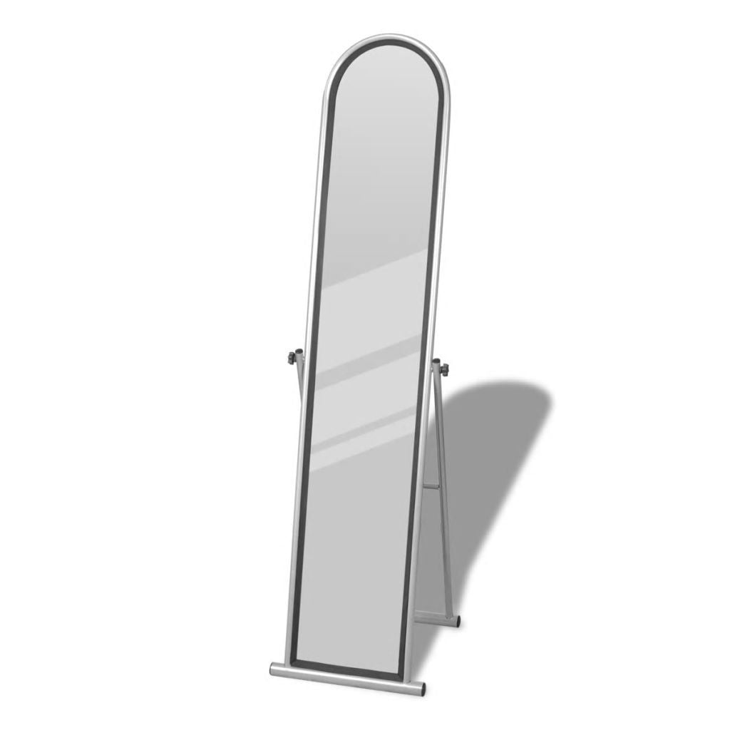 Free Standing Floor Mirror Full Length Rectangular Grey Kings Warehouse