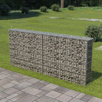 Gabion Wall with Covers Galvanised Steel 200x20x85 cm Kings Warehouse