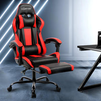 Gaming Office Chair Computer Seating Racer Black and Red Office Kings Warehouse