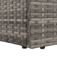 Garden Bed Grey 195x60 cm Poly Rattan Kings Warehouse