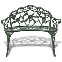 Garden Bench 100 cm Cast Aluminium Green Kings Warehouse