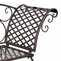 Garden Chaise Lounge 128 cm Steel Antique Brown Kings Warehouse