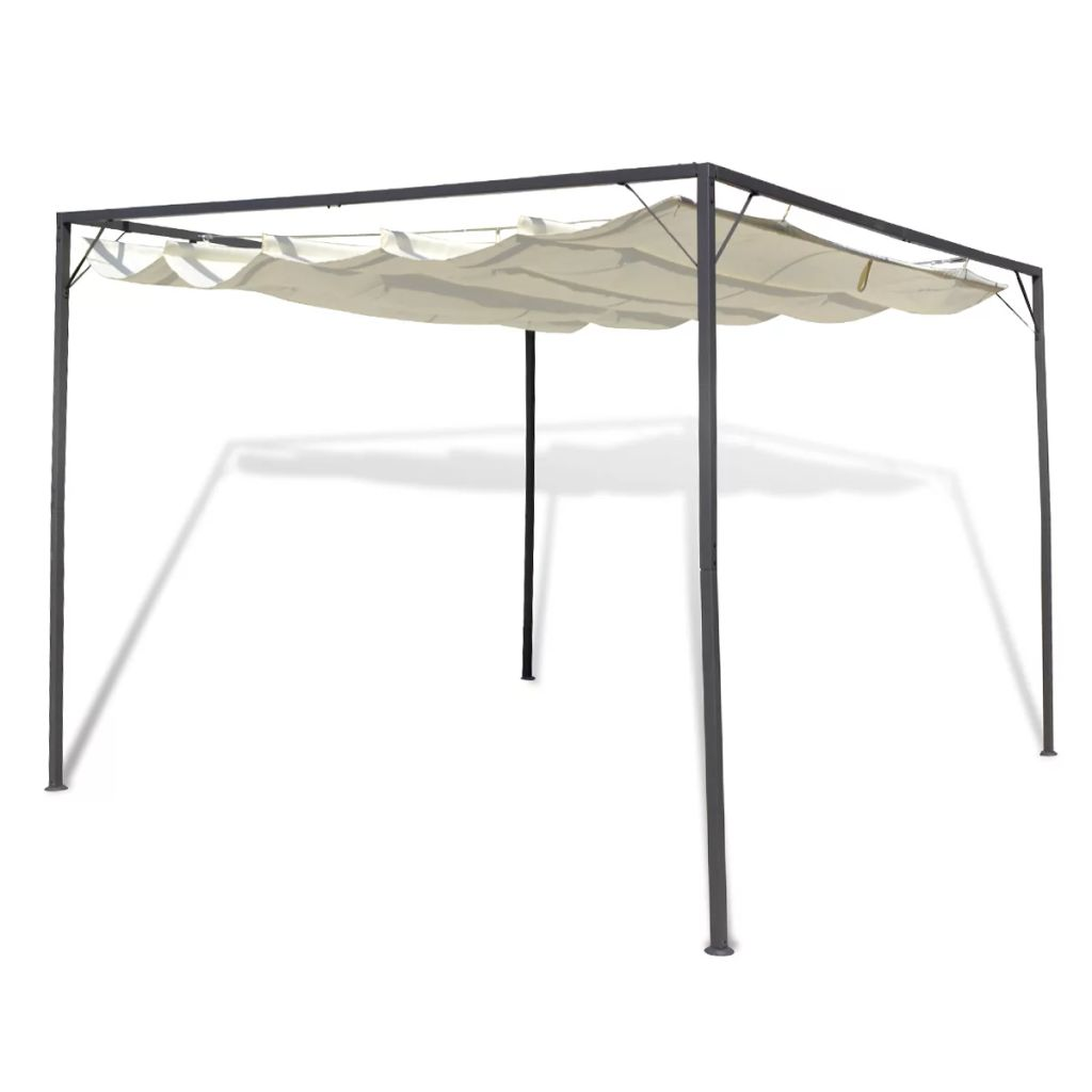 Garden Gazebo with Retractable Roof Canopy Kings Warehouse