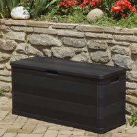 Garden Storage Box Black 117x45x56 cm Kings Warehouse