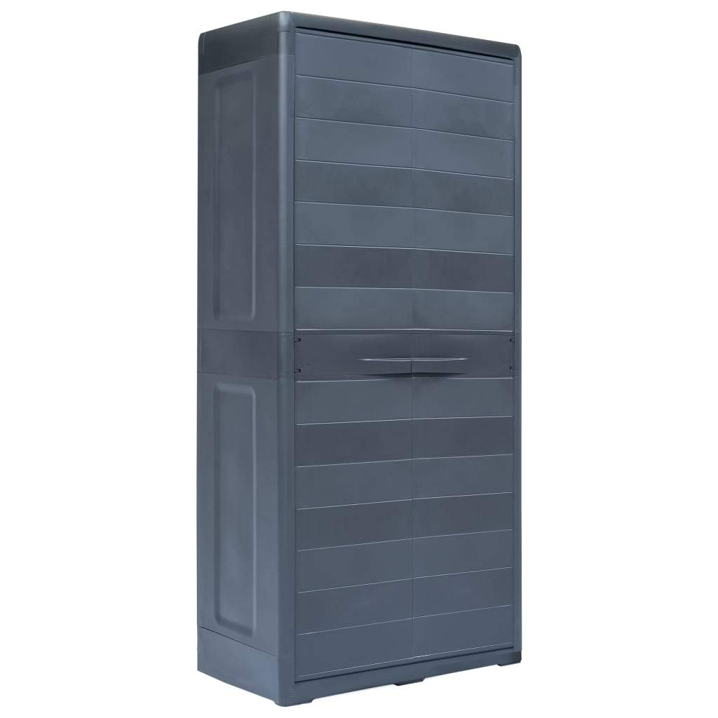 Garden Storage Cabinet XL 78x46x175 cm Plastic Kings Warehouse