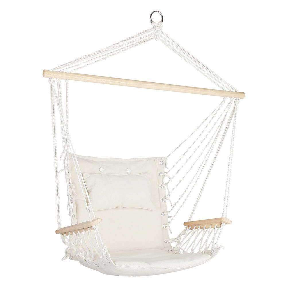Gardeon Hammock Hanging Swing Chair - Cream Kings Warehouse