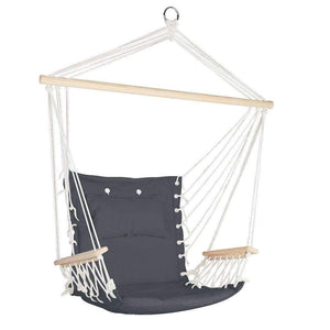 Gardeon Hammock Hanging Swing Chair - Grey Kings Warehouse