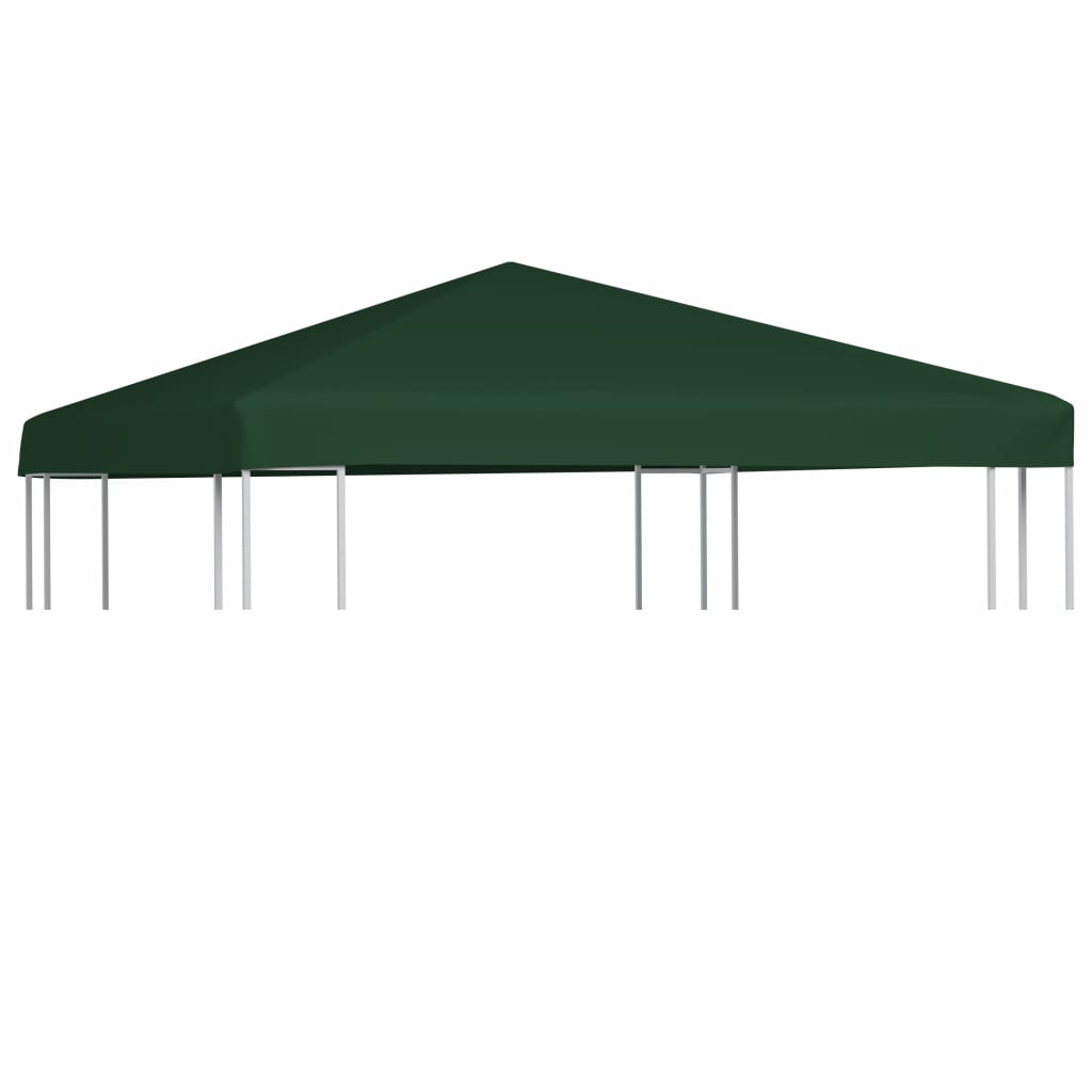 Gazebo Top Cover 310 g/m² 3x3 m Green Kings Warehouse