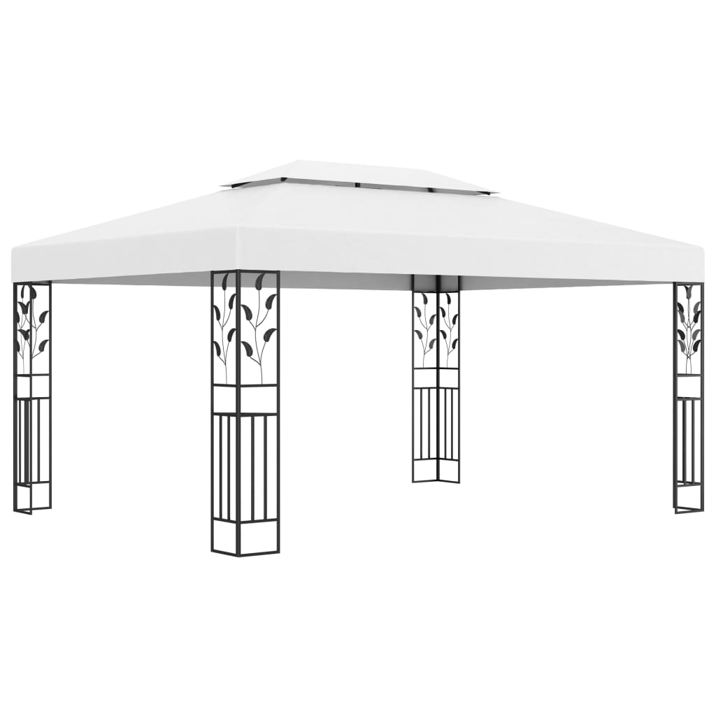 Gazebo with Double Roof 3x4 m White Kings Warehouse