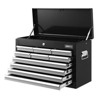 Giantz 10-Drawer Tool Box Chest Cabinet Garage Storage Toolbox Black Silver
