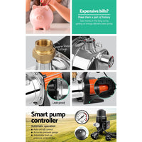 Giantz 1500W High Pressure Garden Water Pump with Auto Controller Pumps Kings Warehouse