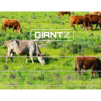 Giantz 2000M Polywire Roll Electric Fence Energiser Stainless Steel Poly Wire Kings Warehouse