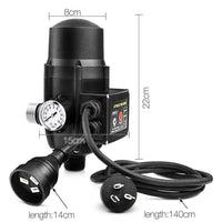 Giantz Adjustable Automatic Electronic Water Pump Controller - Black Kings Warehouse