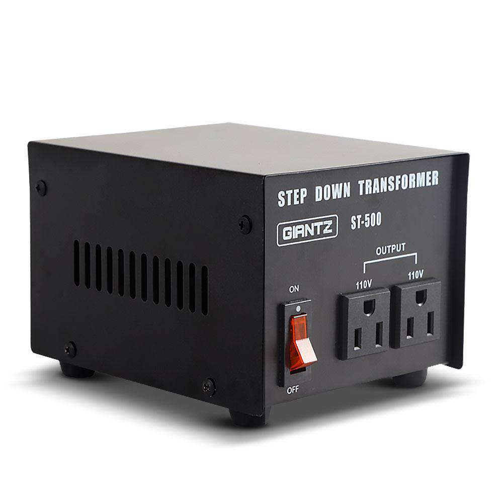 Giantz Stepdown Transformer 500W 240V to 110V Kings Warehouse