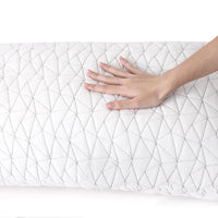 Giselle Bedding Set of 2 Rayon Single Memory Foam Pillow Kings Warehouse