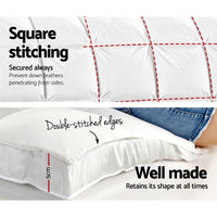 Giselle Double Mattress Topper Pillowtop 1000GSM Microfibre Filling Protector Kings Warehouse